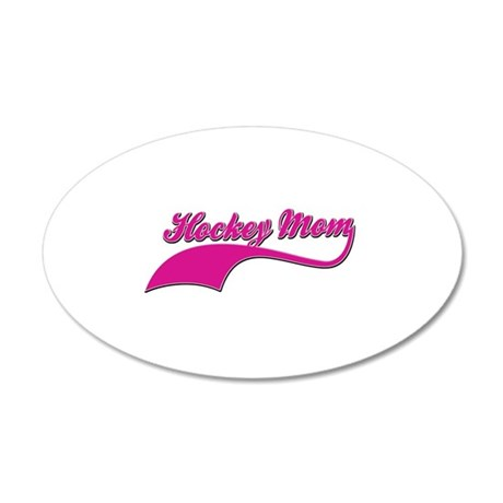 Hockey Mom designs 20x12 Oval Wall Decal