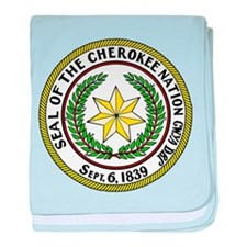 Great Seal of the Cherokee Nation baby blanket