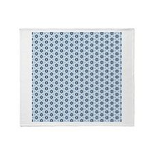 Blue star pattern Throw Blanket