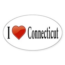 I Love Connecticut Decal