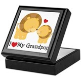 I Heart My Grandpop Keepsake Box