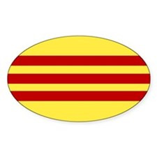 Vietnamese Flag Oval Decal
