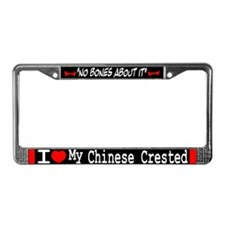 NB_Chinese Crested License Plate Frame