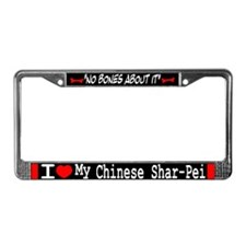 NB_Chinese Shar-Pei License Plate Frame