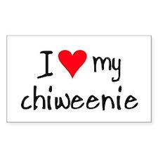 I LOVE MY Chiweenie Decal