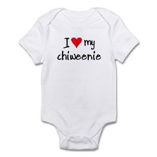 I LOVE MY Chiweenie Infant Bodysuit