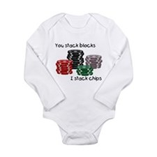 Cute Poker Long Sleeve Infant Bodysuit