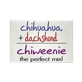 Chiweenie PERFECT MIX Rectangle Magnet
