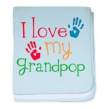 I Love Grandpop baby blanket