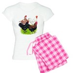 Heavy Breed Roosters Women's Light Pajamas