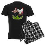 Heavy Breed Roosters Men's Dark Pajamas