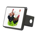 Heavy Breed Roosters Rectangular Hitch Cover