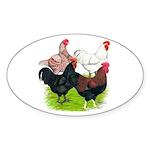Heavy Breed Roosters Sticker (Oval 10 pk)