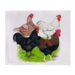 Heavy Breed Roosters Throw Blanket