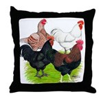 Heavy Breed Roosters Throw Pillow