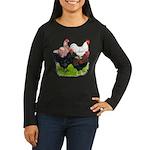 Heavy Breed Roosters Women's Long Sleeve Dark T-Sh