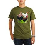 Heavy Breed Roosters Organic Men's T-Shirt (dark)