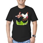 Heavy Breed Roosters Men's Fitted T-Shirt (dark)