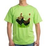 Heavy Breed Roosters Green T-Shirt