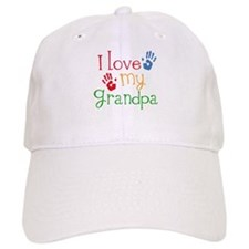 I Love Grandpa Baseball Cap