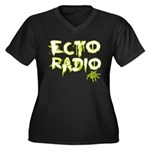 Ecto Radio Women's Plus Size V-Neck Dark T-Shirt