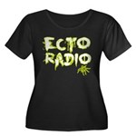 Ecto Radio Women's Plus Size Scoop Neck Dark T-Shi