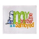 Big Brother Samoyed Throw Blanket