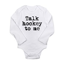Cute Canadian sports Long Sleeve Infant Bodysuit
