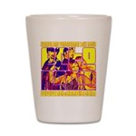 Ecto Radio Yellow Text Shot Glass