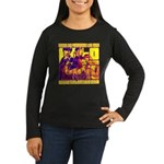Ecto Radio Yellow Text Women's Long Sleeve Dark T-