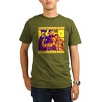 Ecto Radio Yellow Text Organic Men's T-Shirt (dark