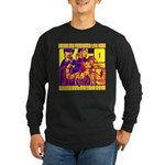 Ecto Radio Yellow Text Long Sleeve Dark T-Shirt
