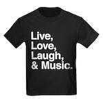 love and music Kids Dark T-Shirt