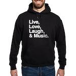 love and music Hoodie (dark)