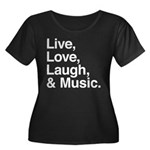 love and music Women's Plus Size Scoop Neck Dark T