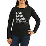 love and music Women's Long Sleeve Dark T-Shirt