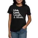 love and music Women's Dark T-Shirt