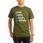 love and music Organic Men's T-Shirt (dark)