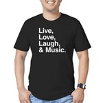 love and music Men's Fitted T-Shirt (dark)