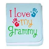 I Love Grammy baby blanket