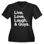 love and guys Women's Plus Size V-Neck Dark T-Shir