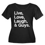 love and guys Women's Plus Size Scoop Neck Dark T-