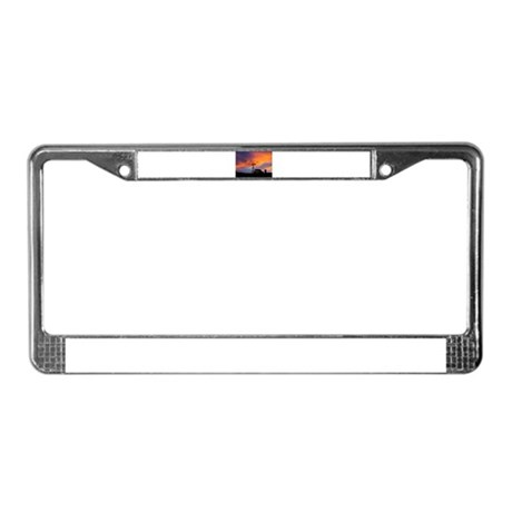 Sunset on the Farm License Plate Frame