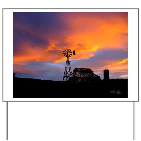 Sunset on the Farm Yard Sign