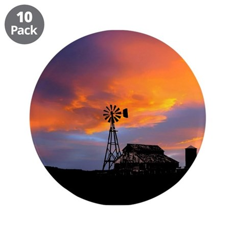"Sunset on the Farm 3.5"" Button (10 pack)"
