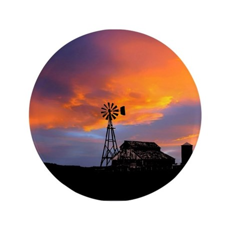 "Sunset on the Farm 3.5"" Button"