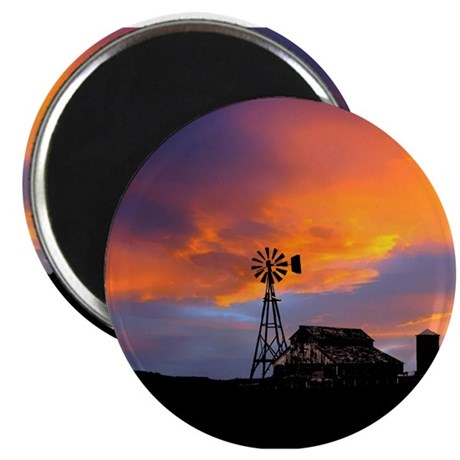 "Sunset on the Farm 2.25"" Magnet (100 pack)"