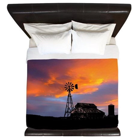 Sunset on the Farm King Duvet