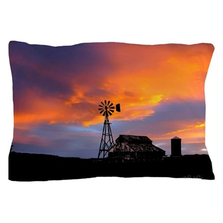 Sunset on the Farm Pillow Case
