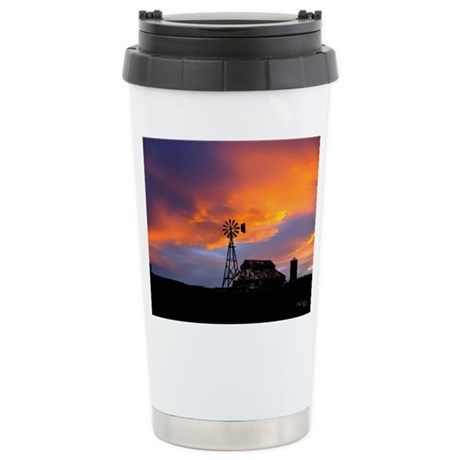 Sunset on the Farm Ceramic Travel Mug